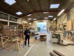 Jean-Clair Lefloch - co-fondateur Articonnex, dans son atelier - entrepot