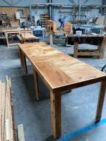 Banque d ' accueil faites en bois 100% récupéré de vieux meubles